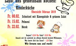 Flyer Kinderküche Februar